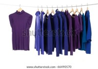 Colorful Clothing On Hanger Rack Display Stock Photo ...