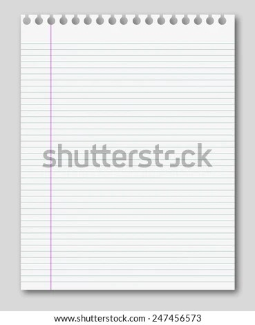 Blank White Paper Background Lined Page Stock Illustration - lined page