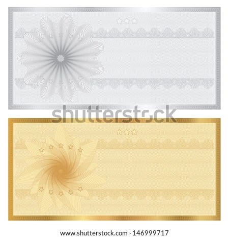 Gift Certificate Voucher Coupon Ticket Template Stock Illustration - money coupon template