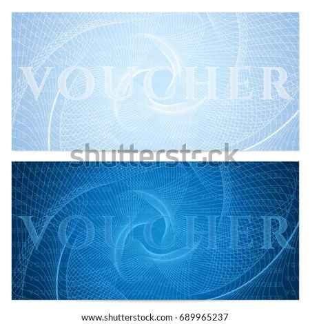 Voucher Gift Certificate Coupon Template Floral Stock Vector - money coupon template