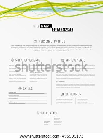 vector minimalist cv resume template timeline stock vector creative resume headers