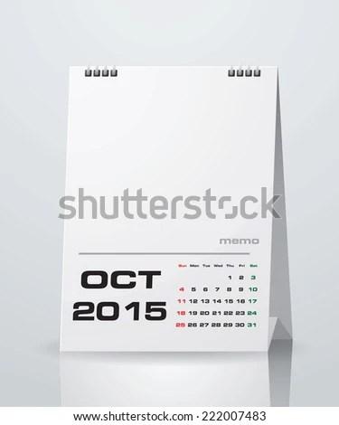 Simple 2015 Year Vector Calendar Free Stock Vector 222007489 - sample 2015 calendar