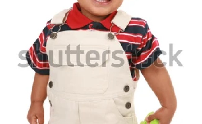Happy Smiling 1year Old African American Stock Photo