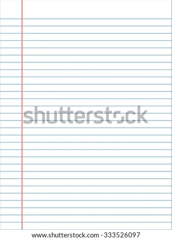 White Lined Paper Sheet Margin On Stock Vector 658367065 - lined page