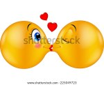 Stock Similar To ID Cute Emoticon Blowing A Kiss
