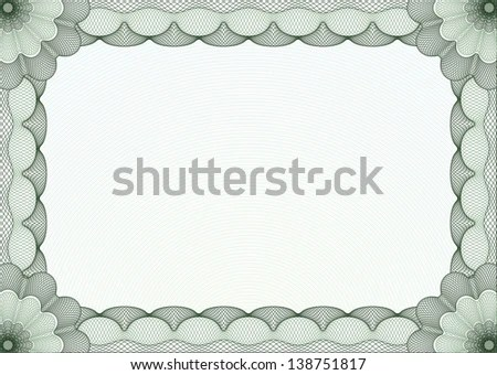 green certificate border template