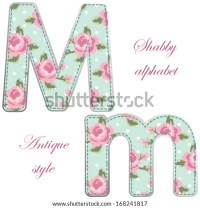 Shabby chic alphabet Stock Photos, Images, & Pictures ...
