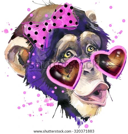 Cute Ape Wallpaper Cool Monkey T Shirt Graphics Monkey Chimpanzee