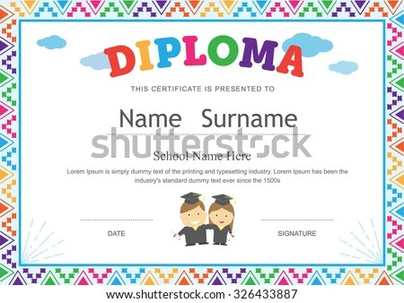 Sample Certificates For Kids perfect attendance award certificates