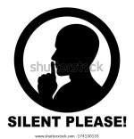 Please Be Quiet Sign