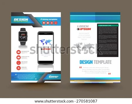 Vector Brochure Template Design Technology Product Stock Vector