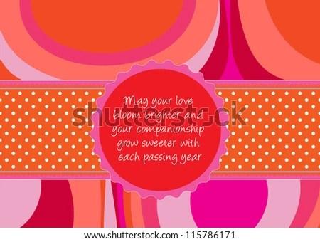 Editable Template Congratulations Card Wedding Valentine Stock