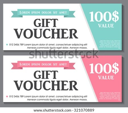 Gift Voucher Template Market Offer Advertising Stock Vector - gift certificate template pages