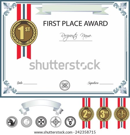 Certificate Of Merit Stock Images, Royalty-Free Images \ Vectors - first place award template
