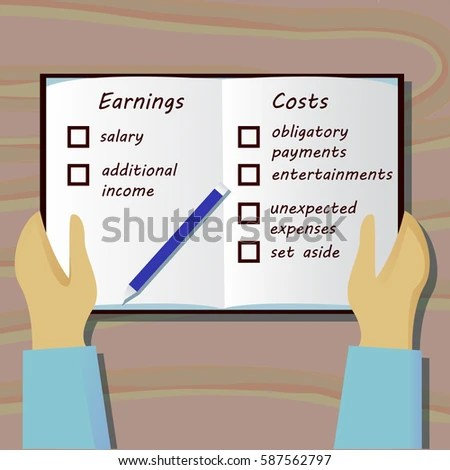 Plan Family Budget Book Top View Stock Vector 587562797 - Shutterstock - family budget project