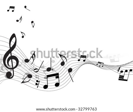 Musical Design Elements Music Staff Treble Stock Vector (Royalty