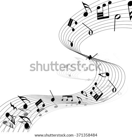 Musical Design Elements Music Staff Treble Stock Photo (Photo
