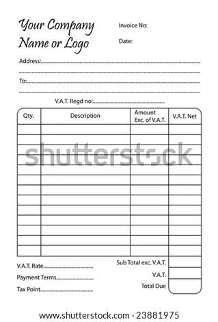 Invoice Book Vector Illustration Bill Pad Stock Vector 23881975