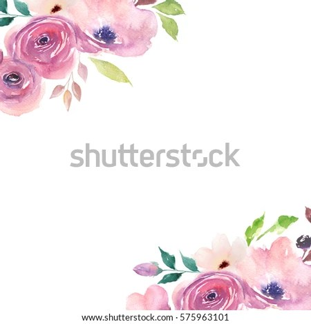 Floral Card Watercolor Template Wedding Invitations Stock - easter invitations template