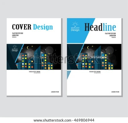 Annual Business Report Cover Template Booklet Stock Vector HD