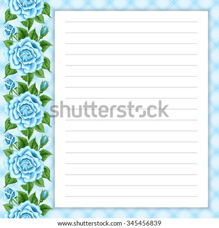 Lined Page Notes Design Retro Style Stock Vector 345463529 - lined page
