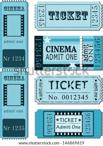 Cinema Admit One Ticket Illustrations Stock Vector 86257492 - admit one ticket template