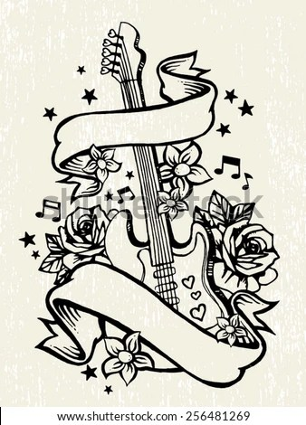 Tattoo Scroll Stock Images, Royalty-Free Images \ Vectors - tattoo template