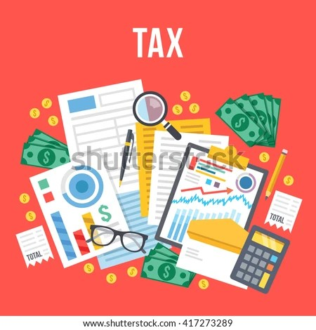Income Tax Stock Images, Royalty