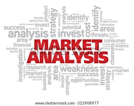 Market Analysis Word Cloud Business Concept Stock Illustration