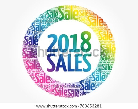 2018 SALES Word Cloud Collage Business Stock Illustration 780653281 - sales word