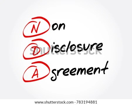 NDA Non Disclosure Agreement Acronym Business Concept Stock Vector - non disclosure agreement