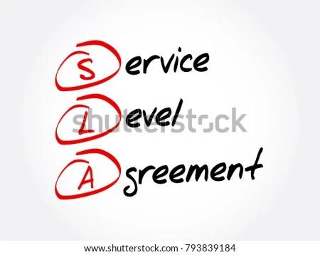 SLA Service Level Agreement Acronym Business Stock Vector 793839184