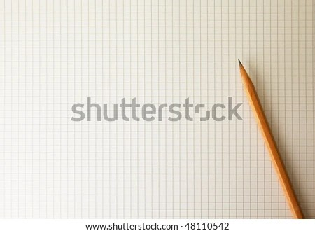 Drafting Paper Graph Paper Pencil Under Stock Photo (Royalty Free