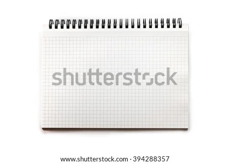 Blank Graph Paper Drafting Notebook Isolated Stock Photo (Edit Now