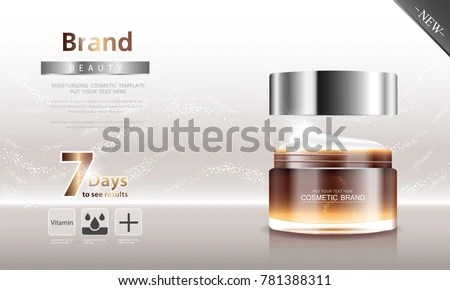 Cosmetic Product Poster Bottle Package Design Stock Photo (Photo - product poster