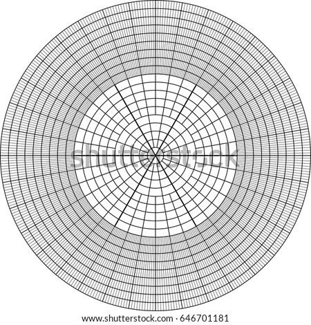 Sheet Polar Graph Paper Shows Wear Stock Photo (Photo, Vector