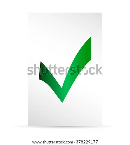 Template Ballot Paper Elections Icons Check Stock Vector (2018