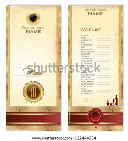 Luxury Template Restaurant Menu Wine List Stock Vector HD (Royalty