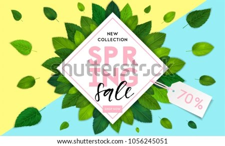 Spring Fashion Style Sale Flyer Template Stock Vector 1056245051 - spring flyer template