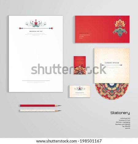 Vector Identity Templates Letterhead Envelope Business Stock Vector