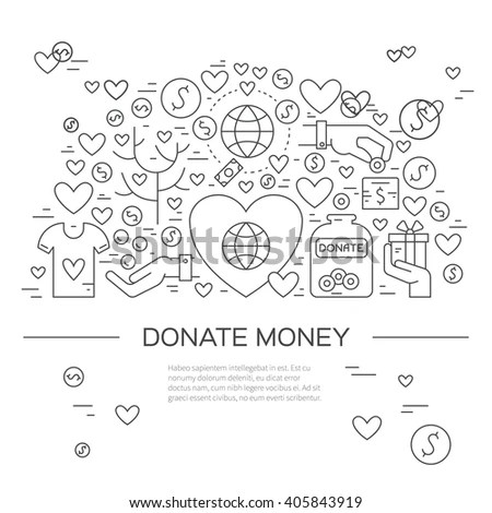 Card Poster Template Charity Fundraising Objects Stock Vector - event card template