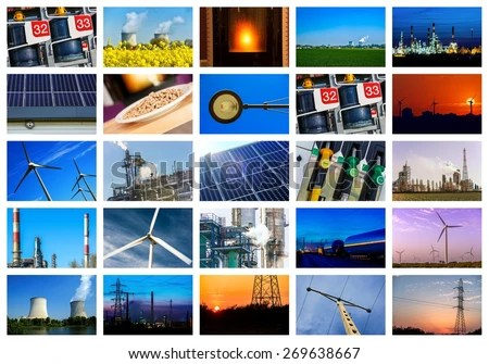 Collage Power Energy Concepts Stock Photo  Image (Royalty-Free