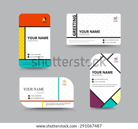 Business Card Template Name Card Design Stock Vector 291067487 - business card sample