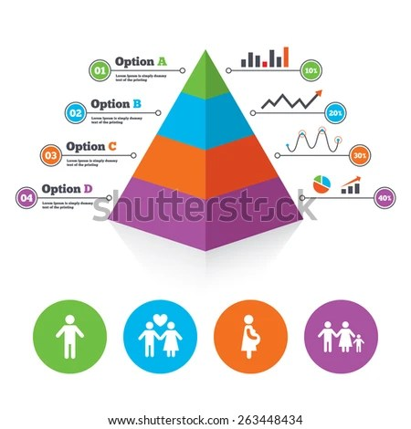 Pyramid Chart Template Family Lifetime Icons Stock Vector - birth chart template