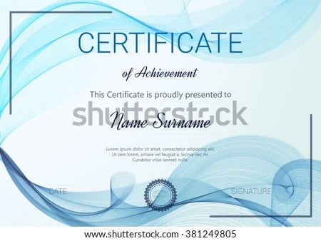 Vector illustration in rank M-rank Certificate or diploma template