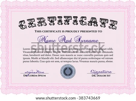 quality certificate template