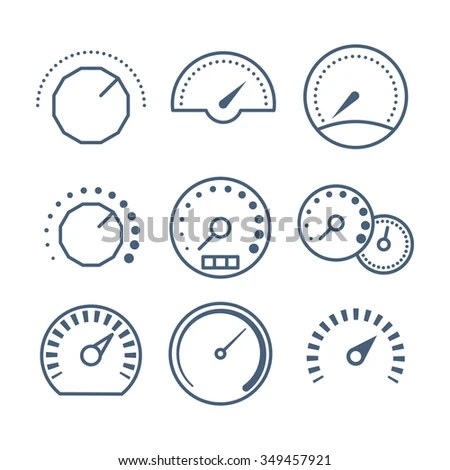 Different Styles Measure Tools Speedometer Volume Stock Vector HD - tools to measure volume