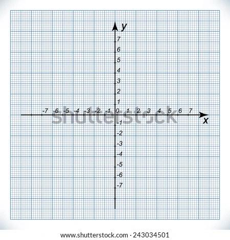 Coordinate Axis On Graph Paper Origin Stock Vector 243034501