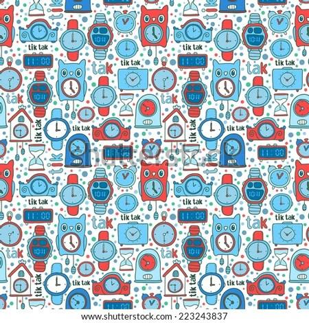 Vector Seamless Pattern Background Cute Cartoon Stock Vector HD