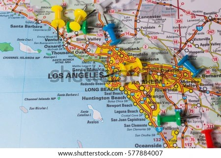 San Diego Pinned On Map Stock Photo (Edit Now) 577884007 - Shutterstock